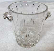 Cut lead crystal ice bucket~Neiman~Marcus-Waterford style~Pristine-NR