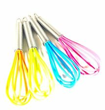 1 x Chef Aid Mini Balloon Whisk Stainless Steel With Silicone Head -v. Colours