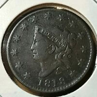 1818 CORONET HEAD LARGE CENT SCARCE THIS NICE