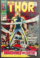 MIGHTY THOR #145 VF--  THOR EXILED TO EARTH,RINGMASTER + HOGUN THE GRIM BACKUP