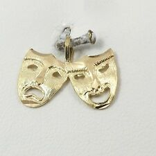 Tragedy Charm Pendant 0.6gr 14K Gold Theatrical Comedy &