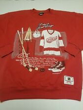 Vtg 90s Detroit Red Wings Crewneck Sweatshirt Nutmeg Mills Mens Large NHL Red