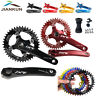 IXF 104BCD Crankset MTB Bike 170mm Crank Narrow Wide Round Oval Chainring BB