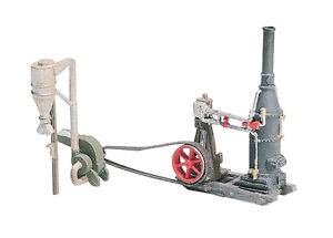 HO SCALE: STEAM ENGINE & HAMMERMILL - WOODLAND SCENICS D229