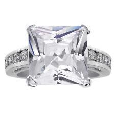 Engagement Ring Sterling Silver 6.00 Carat Princess Cut Cz
