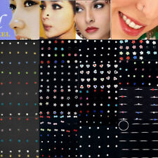 24/60pcs Wholesale Body Jewelry Mix Lots Nose Stud Ting Piercing Display Earring