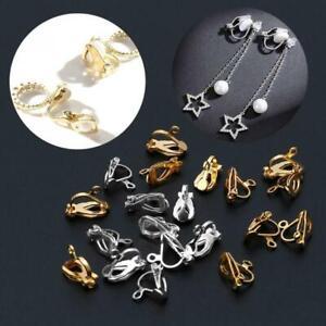 20Pc Clip-on Earring Converter with Easy Open Loop DIY Earrings Jewelry Finding