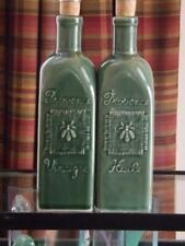 Revol Bee Cruets Green Oil & Vinegar Bottles France