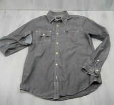 Lee Retro Vintage Chambray Top Stitch Work Shirt Mens Medium