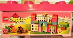 LEGO Duplo All-in-One-Pink-Box-of-Fun 10571 Container Hen Girl Rabbit 65 pcs