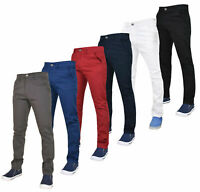 Enzo Mens Chinos Jeans Slim Fit Skinny Stretch Denim Pants Trousers All Sizes