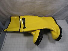 """Talon Trax 4T270 Men's Size 9 Rubber Overboots 17"""" High Adjustable Strap NEW"""