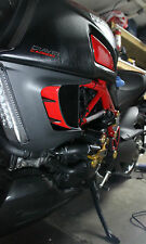 Ducati DIAVEL Glossy Red sides Air inlets trim pad protector stickers trim