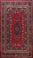 Vintage Floral Hand-knotted Kashmar Area Rug Dining Room Oriental Carpet 7'x10'