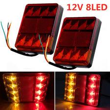 2x 12 V LED Caravane Van Camion Arrière Queue Arrêt Feu Voyant Lampe WA