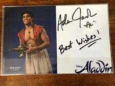 Adam Jacobs - Aladdin signed Disney's Aladdin Broadway musical card