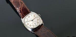 Rolex Vintage 1920's Gents Mid Size Hand Wound Watch on Rolex Buckle Watch Strap