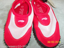 Beach/water/surf shoes red and white mesh insert size 12 euro 32