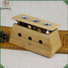Three Hole Healing Therapy Bamboo Mild Moxibustion Box 18mm Moxa Stick Roll 艾灸盒