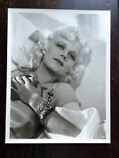 """Jean Harlow Photo by George Hurrell Vintage  Large 11 X 14""""  Rare Size Hollywood"""