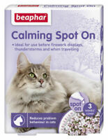 Beaphar calming spot on for cats 3 pipettes- fireworks,thunderstorms,travelling