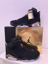 Nike Air Jordan 6 VI Retro DMP Negro y Oro Reino Unido 9 EE. UU. 10 Nuevo Raro en Caja Sin Uso
