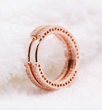 Hearts Of Hoop Earrings�Us-Fast Free Shipping】 1 Pair Pandora Rose Gold 286318Cz