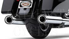 """Cobra 4"""" Neighbor Hater Slip-On Chrome Mufflers for Harley Exhaust 1995-2016"""