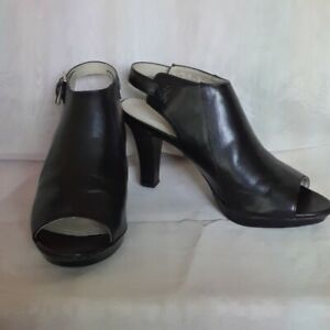 "Naturalizer N5 Comfort ""Distant"" Black Peep Toe Shoes"