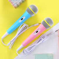 Children wired microphone toy musical instrument karaoke singing kid music toyM&