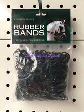 Horse Mane Braid Rubber Bands Black 500pk