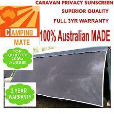 Caravan privacy screen 4.9m superior Camping mate NEW SHADE WALL 17' sunscreen