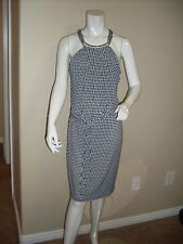 NWT  MICHAEL KORS Sleeveless Belted Halter Dress / Large
