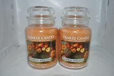 Yankee Candle Large Jars Lot of 2 Pumkin Wreath