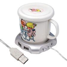 USB Tea Coffee Cup Mug Warmer Pad with 4 Port USB Hub - By DIGIFLEX