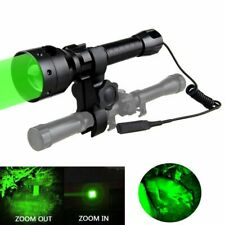 500Yard Zoomable Focus Green Red Light LED Hunting Flashlight Scope Mount Tactic