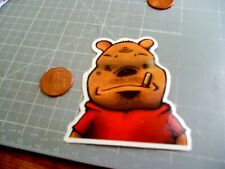 GLOSSY SMOKING POOH Sticker/ Decal Skateboard Laptop Stickers  NEW