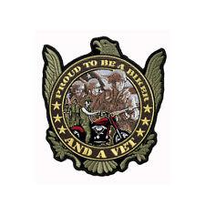 Biker Chopper Motorrad Proud to be Army Veteranen Eagle Aufbügler Aufnäher Patch