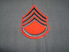 WW2 USMC platoon sergeant chevron embroidered on wool winter service