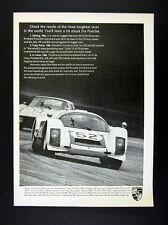 1967 Porsche 906 Carrera 6 race car photo vintage print Ad