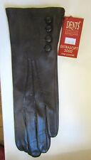 SALE - Ladies DENTS brown buttoned leather gloves - BNWT - FREE UK POSTAGE