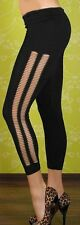 SEXY MISS Femmes Hanche Leggings DETERIORE Open Fissures style XS/S Noir NEUF