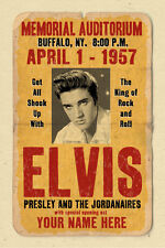 your name on a cool, personalized  concert poster with ELVIS PRESLEY