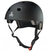 Triple 8 Brainsaver Helmet with EPS Liner Black Rubber