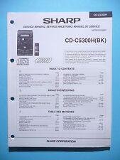 Manuel de reparation pour Sharp CD-C5300H ,ORIGINAL