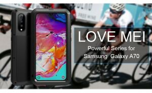 LOVE MEI Shockproof Heavy Duty Metal Case Cover For Samsung Galaxy A70 (UK)