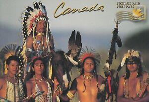 CANADA UX 120 - C 108 - PREPAID POSTAGE POSTCARD - NATIVE INDIANS AMÉRINDIENS