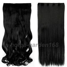 100% Real Good for remy human Hair Clip in on Hair Extensions 1 Piece 5Clips S75