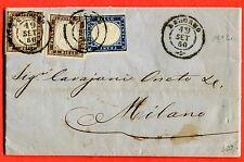 ITALY - SARDINIA - 1860 2x c.10 + c.20  from BERGAMO (258367)