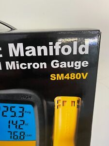Fieldpiece SM480V 4-Port Wireless Manifold with Micron Gauge